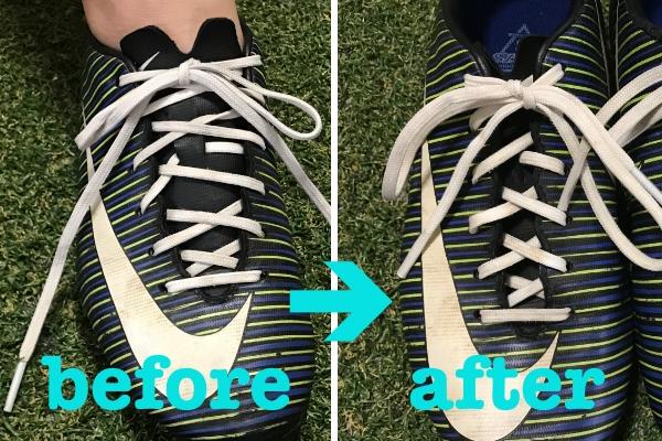 靴紐を短く
